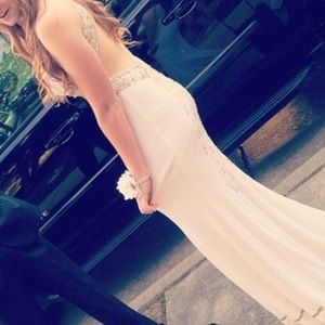 Women Hailey Logan White Prom dress